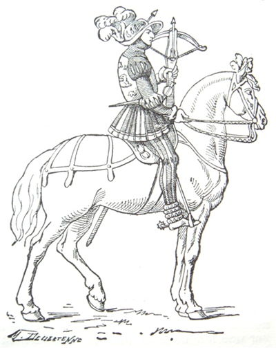 Picture Of 16th Century French Mounted Crossbowman