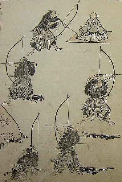 Picture Of Archery From Hokusai Manga 1817