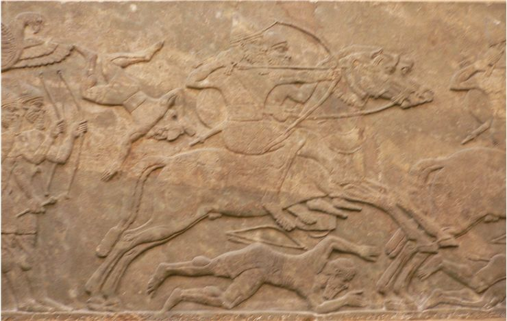 Picture Of Assyrian Mounted Archery