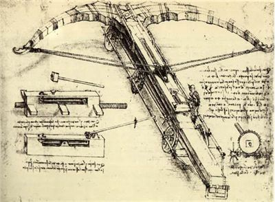 Picture Of Crossbow By Leonardo Da Vinci 1500