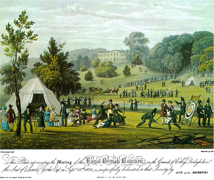 Picture Of Royal British Bowmen Archery Club 1823