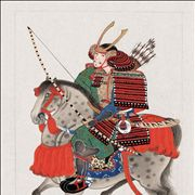 Picture Of Samurai On Horseback Carrying Bow And Arrows