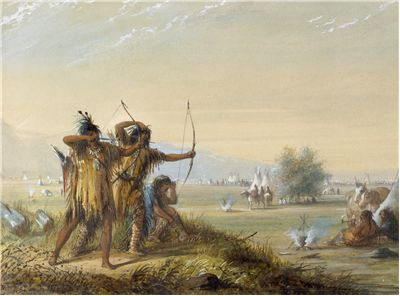 Picture Of Snake Indians With Bows And Arrows